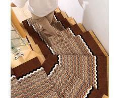 LEFA Tapis et moquettes Tapis de couloir d'escalier de tapis de couloir de couloir extra-long Tapis de hall d'entrée anti-dérapant for tapis de cuisine, brun (Size : 98 * 400CM)