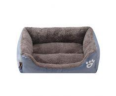 Roofeel Dog Bed Pet Sellette pour lit de Chien Lavable et Confortable pour Une Meilleure Mousse de Sommeil pour Matelas de Sommeil (Gris,XL)