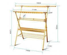 FAFZ Aluminium Folding Clothes Drying Rack Hanger Style européen créatif salon moderne Chambre Balcon Rack de vêtements ( Couleur : 1* )