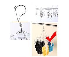 Prune forme en acier inoxydable vêtements séchage Rack Séchage Rack Laundry Drying Rack