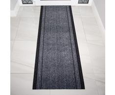 Très Long Tapis étroit pour couloir avec envers en caoutchouc - Gris (personnalisable) , Length: 16' (488cm)