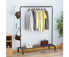 LE Cintre/étage pliant cintre simple intérieur/chambre à coucher vêtements simples/étendoir/pliable/Laundry/Clothes Rack,E