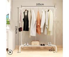 lililili Vêtements Vêtements Rack Heavy Duty qualité Commerciale Stand étendoir avec Tige Supérieure et inférieure clayette de Stockage pour Les Boîtes de Chaussures Bottes-Blanc 41''Lx17''Wx60''H