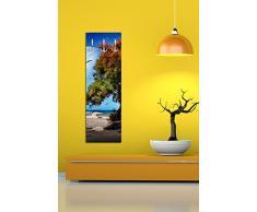 Porte-manteau mural avec design rêve du monde G458 40 x 125 cm Porte-manteau mural surréaliste Arbre plage