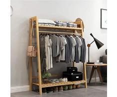 Coat Stand - Cintre Type de plancher chambre à coucher simple porte-manteau multifonctionnel moderne stockage chaussure rack accueil pendaison vêtements rack 100 × 40 × 140 cm - Welcome