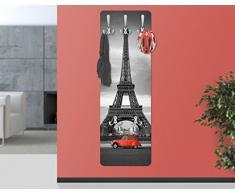 apalis 67533 Porte-manteau mural Spot On Paris, 139 x 46 cm