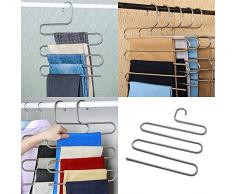 1 pièce Multifonction Cintres Pantalons Vêtements Organisateur de Rack de Stockage Space Saver