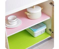 UWSZZ couleur multi-usage à la poussière des armoires de cuisine tapis coussin penderie papier tiroirs Armoire à chaussures imperméable vert coussin coussin cuisine 45*200cm