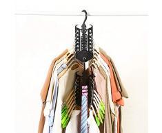 Cloverly Cintre Rack Vêtements Économiseur D'espace Pliant Cintre Multifonctionnel Magique Rack De Vêtements pour Vêtements Placard Organisateur