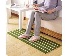 UWSZZ bande simple entrée tapis paillassons bar Foyer cuisine tapis de poussière et l'eau de toilette Tapis antidérapant 110x43cm long Café bi-fold portefeuille