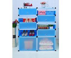 Double rangée de couche 5 puce magique armoires à chaussures à tiroirs Armoires finition bricolage armoire Armoire à chaussures, 2 couche 5 mines