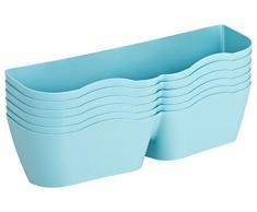 CH Handel Chaussures Support, Range-buches Chaussures – Set pour 6 Paires de Chaussures pour Montage Mural ou Montage sur Meubles, Les tiroirs ou Autre Meuble Bleu