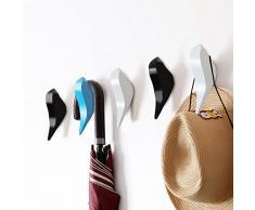 Crochets muraux Anjuer - Porte-manteau mural décoratif pour manteaux, foulards, sacs, sac à main, sacs à dos, serviettes et plus, ensemble de 3, multicolores pastels