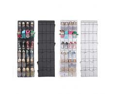Sac de rangement, Mml 24 Poche à chaussures Space Organiseur à suspendre à une porte de support mural pour armoire de stockage de sac noir