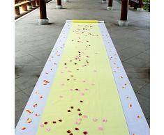 Tapis Tapis Carpet Non Slip VIP Mariage Tapis Lumière Jaune Jetable Graduation Thème Défilé De Mode Hôtel Bien-Être Anti-dérapant Tapis Coureur Long pour Hôtel Mariage Extérieur