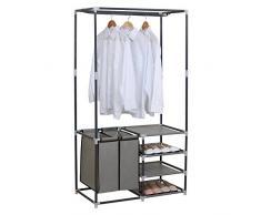 WOLTU SR0029-a Penderie à vêtement ,Portant à vêtements Porte-manteau vêtements rack, 87x44,5x158cm,Gris