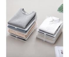 YMCHE Creative ménagers Stack Vêtements Artefact Rack de Stockage de Rangement pour vêtements Tableau Anti-Rides Pliable Tableau pour Adulte T-Shirt, Plastique, Gris, 33x26x4.5cm