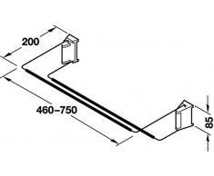 Gedotec Wand-Schuhregal Métal Support de Chaussures Largeur Réglable 460-750 mm | Acier Chromé | Rangement Soi-Même Construction | 1 Pièce - Design Schuh-Regal Étroit pour la Montage Mural