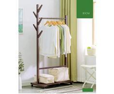 Armoire Manteau en bois Racks Cintres Landing Chambre Vêtements Étagères Rack de stockage ( Couleur : B )