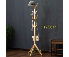 HWF Portemanteau Forme de l'arbre Chaussure et manteau résistant à la main Porte-vêtements Porte-manteau pour enfants Chambre à coucher 4 couleurs en option ( Couleur : Solid wood )
