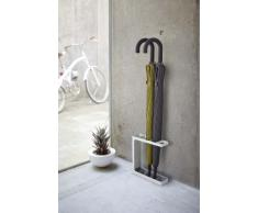 Yamazaki Porte-Parapluie, Acier, Blanc, 24 x 7 x 27 cm