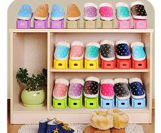 yingxuan adultes enfants Rangement Étagère à chaussures pour entrée empilable Solutions de rangement organiseur mural Lot de 6