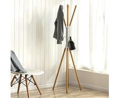 Porte-manteau bois solide,étage chambre coat rack simple vêtements européens des grilles en fer forgé simple porte-manteau d'étage,Cintre de branche-blanc