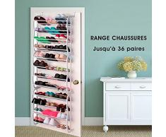 SHOP STORY - Organisateur Range Chaussures 36 Paires Étagère Porte Armoire Dook Rack
