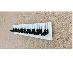 Porte Manteau Chapeau Luxe Design Loft Piano Musique Penderie Murale (Noir et Blanc, 80_cm)