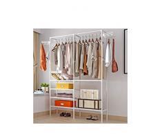 ZC - Tringle à Vêtements à Usage Intensif, Tringle à Vêtements, Porte-vêtement Cintre Autoportant Double Pôle Rack De Vêtements pour Chambre à Coucher Multifonctionnelle, Taille : 86 * 44 * 174cm