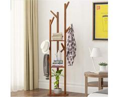 Portemanteau vertical Porte-manteau 2 en 1 porte-manteaux porte-manteaux cintre double branche avec 8 crochets niveau réglable Porte manteau