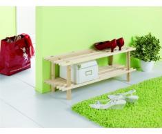 Zeller 13126 Étagère à chaussures en pin 2 etages, 80 x 26 x 29,5 cm