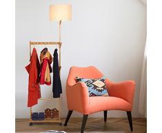 Floor DL Lampadaires Lampadaire, salon chambre à coucher vêtements rack lampadaire LED étude salle solide bois lampadaire taille: 50 * 35 * 194cm lampe sur pied