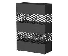 Design ajour/é r/éceptacle /à Eau Noir LUC03BK rectangulaire SONGMICS Porte-parapluies Support /à parapluies avec Crochets