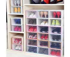 BaoDYG Lot de 6 tiroirs de rangement pour chaussures de bricolage Rose