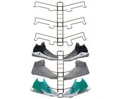 mDesign rangement chaussures (lot de 2) – étagère chaussure murale ajustable pour trois paires de baskets, chaussures de sport, etc. – gain despace part rapport à une armoire chaussures – bronze
