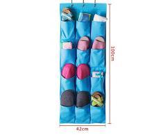 buwico multicouches 12 poches Organiseur à chaussures Placard espace de porte Support suspendu salle de support de rangement mural sac portable tissu Oxford sac de rangement avec crochet