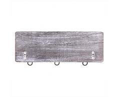"""Manteau mural rustique Rack avec 3 crochets robuste-Lot de 2-Porte-manteau en bois Porte d' entrée de Vintage-Porte- bagages rustique pour les manteaux,sacs,serviettes- 17,5"""" x 6.10"""" - Rustique Blanc"""
