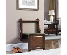 ALUK- small stool Banc à Chaussures Pliant, Fauteuil à Chaussures Mural, Repose-Pieds d'entrée Mural, Banc à Chaussures en Bois Massif Ultra-Fin, Portant Super Poids 180 kg