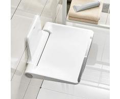 Tabouret de salle de bain douche tabouret Tenture murale chaise maison salle de bains porche banc mural pour banc de chaussures Tabourets (Color : Blanc, Size : 30 * 36 * 32cm)
