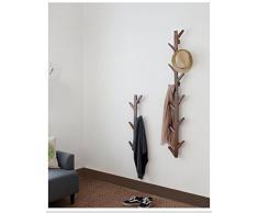 Cintre multifonction en bois massif haut de gamme Créative en bois massif Penderie / Suspension murale, Crochet mural Habiter Hanger Perruque de finition naturelle ( couleur : Retro color , taille : 98cm )