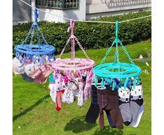 Chaussettes Sous-vêtements Cintre multifonctions Vêtements suspendus rack B