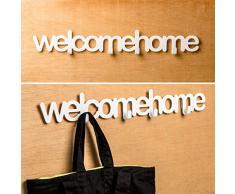 Balvi - Porte-manteau mural Welcome home blanc métal