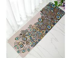 Zyurong Paillasson en flanelle antidérapant, tapis de sol de cuisine, maiso,n canapé, long tapis rectangulaire, 40 x 120 cm