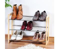 KESPER 69704 Etagère à Chaussures Extensible Métal Brun 64 x 46 x 22 cm