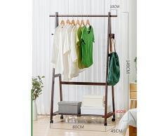 Armoire Manteau en bois Racks Cintres Landing Chambre Vêtements Étagères Rack de stockage ( Couleur : A , taille : 80cm )