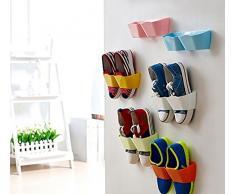 yosoo circlips créatifs Meuble Étagère à chaussures en plastique pour la porte déco à suspendre hängeorganizer détachez pour porte chaussures étagère murale design Porte étagère pour chaussures