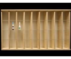 V59 - Vitrine murale 94 cm x 52 cm x 11 cm collection miniature collecteur tableau d'affichage train pion petit objet jouet enfant mini nain de jardin schtroumpf vitres en plexiglas clair meuble rangement étagère armoire placard