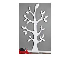 Clever-moebel Porte-manteau mural en forme d'arbre Blanc, blanc, 170 cm