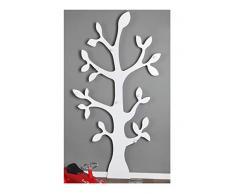 Clever-moebel Porte-manteau mural en forme darbre Blanc, blanc, 170 cm